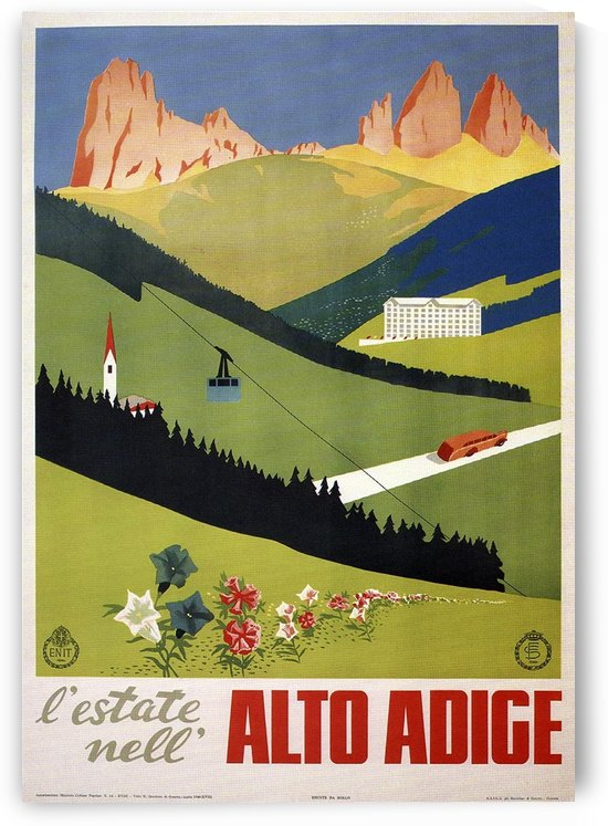 Alto Adige 1940 Italy Vintage Poster by VINTAGE POSTER