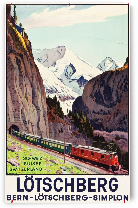 Lotschberg, Switzerland Travel Poster by VINTAGE POSTER