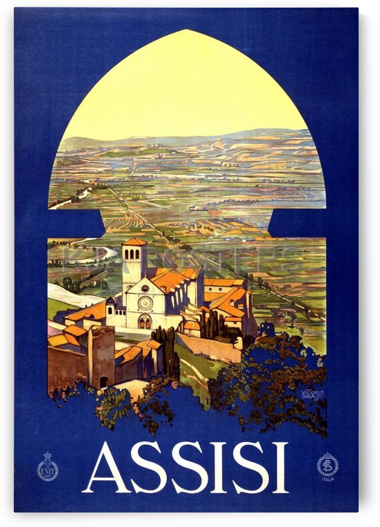 Assisi travel poster by VINTAGE POSTER