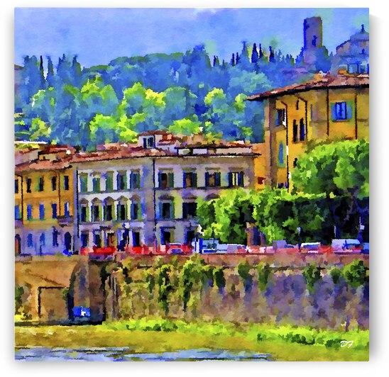European Waterside_IMG 1257_watercolor  by Darrell L Foltz