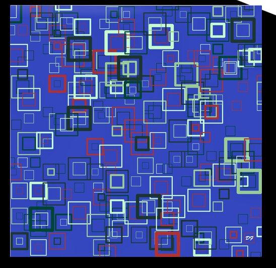 Retro Squares_Blue_IMG_0200 by Darrell L Foltz