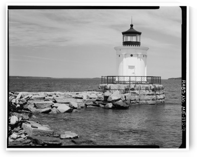 Portland-Breakwater-Lighthouse-2-Maine by Stock Photography