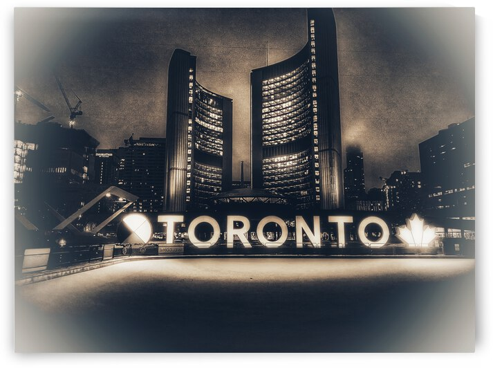 Vintage Toronto Sign by TorontoStreetBeats
