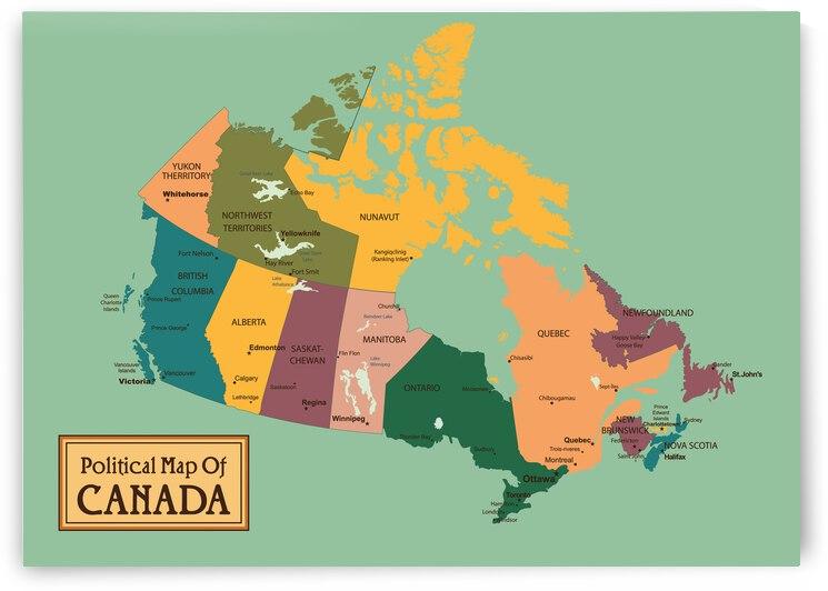 Political Map Of Canada by SamKal