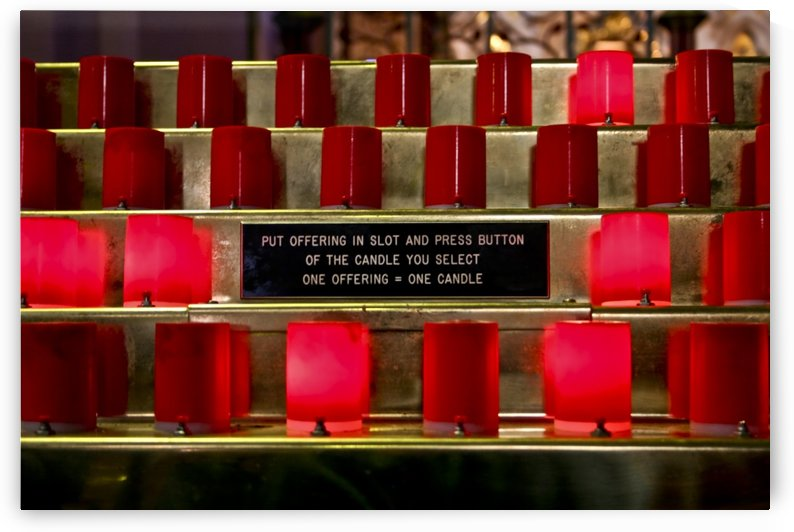 Plastic Church Candles, Dublin, Ireland by Tara K