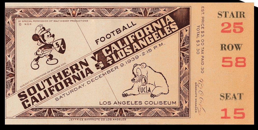 1939 USC Trojans vs. UCLA Bruins   Row 1 by Row One Brand