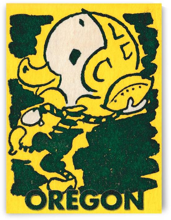 1950 Oregon Duck Football Art | Row 1 by Row One Brand