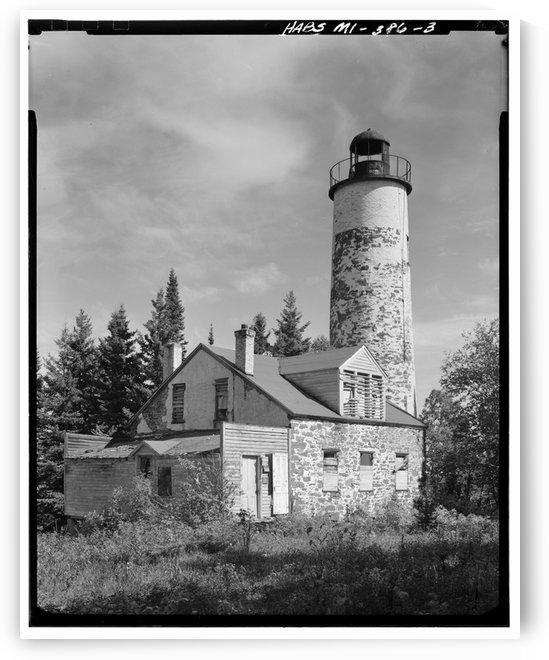 Rock-Harbor-Lighthouse-2-Michigan by Stock Photography