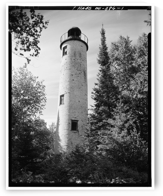 Rock-Harbor-Lighthouse-Michigan by Stock Photography