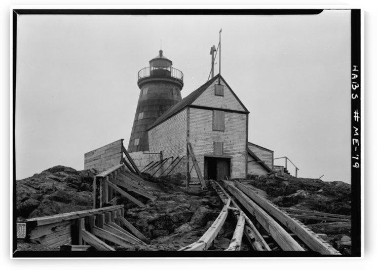 Saddleback-Ledge-Lighthouse-Maine by Stock Photography