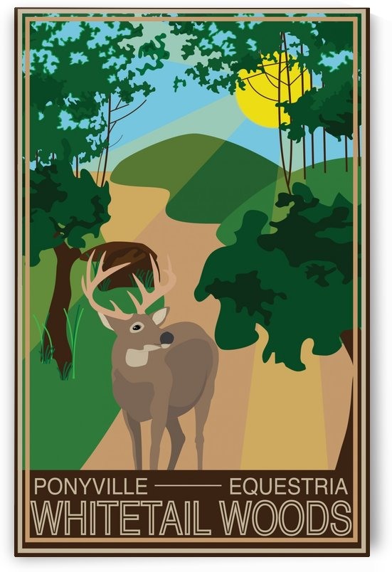 Vintage Travel Poster Whitetail Woods by VINTAGE POSTER