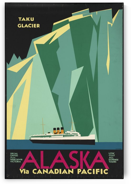Alaska via Canadian Pacific by VINTAGE POSTER