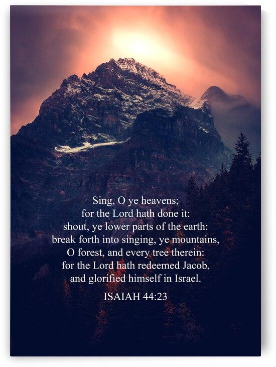 Isaiah 44:23 Bible Verse Wall Art by ABConcepts