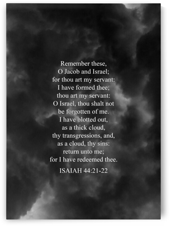 Isaiah 44:21-22 Bible Verse Wall Art by ABConcepts