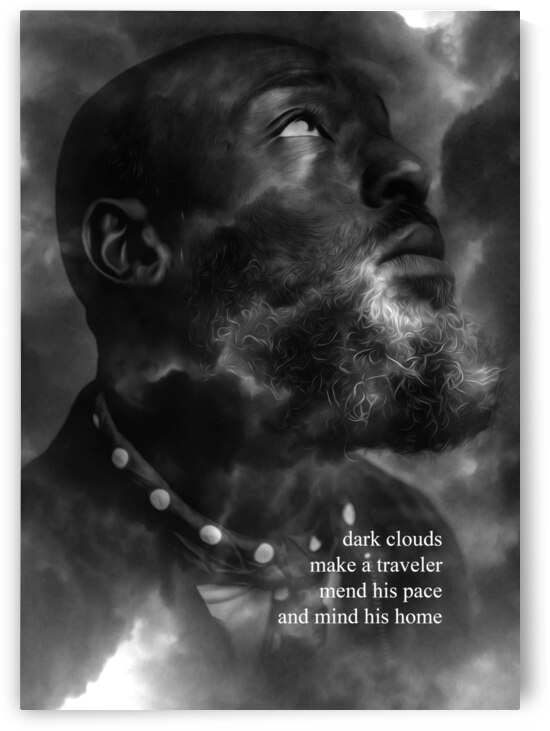 Dark Clouds Motivational Wall Art by ABConcepts