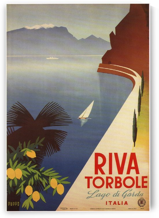 Riva Torbole Italy Vintage Poster by VINTAGE POSTER