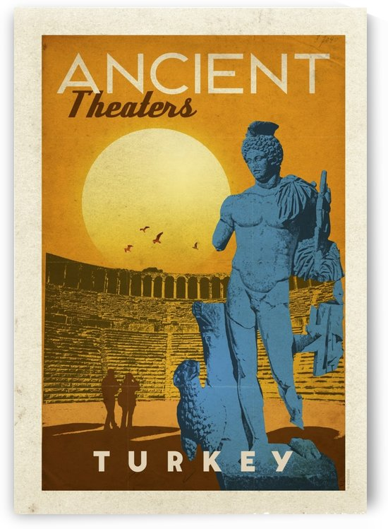 Turkey Ancient Theaters by VINTAGE POSTER