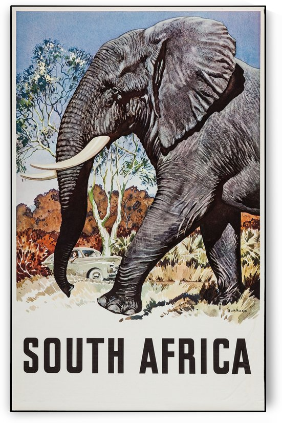 South Africa Travel Poster by VINTAGE POSTER