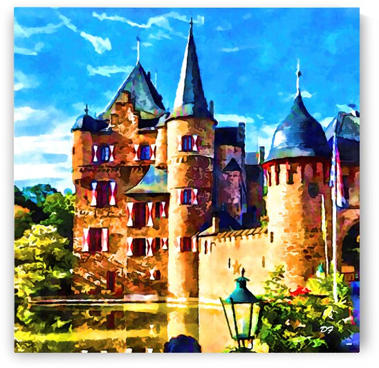 European Castle_IMG 8827_Watercolor style by Darrell L Foltz
