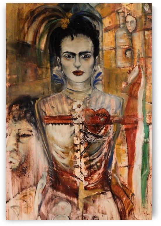 Frida on Fire by Becky Claffy Fine Art