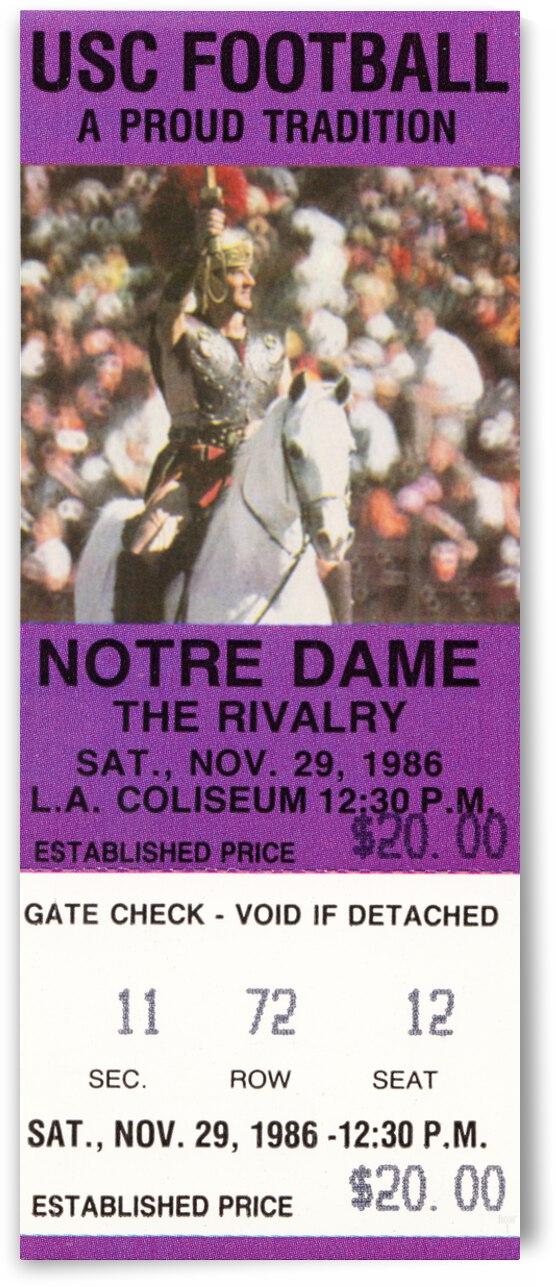 1986 USC Trojans vs. Notre Dame Irish by Row One Brand