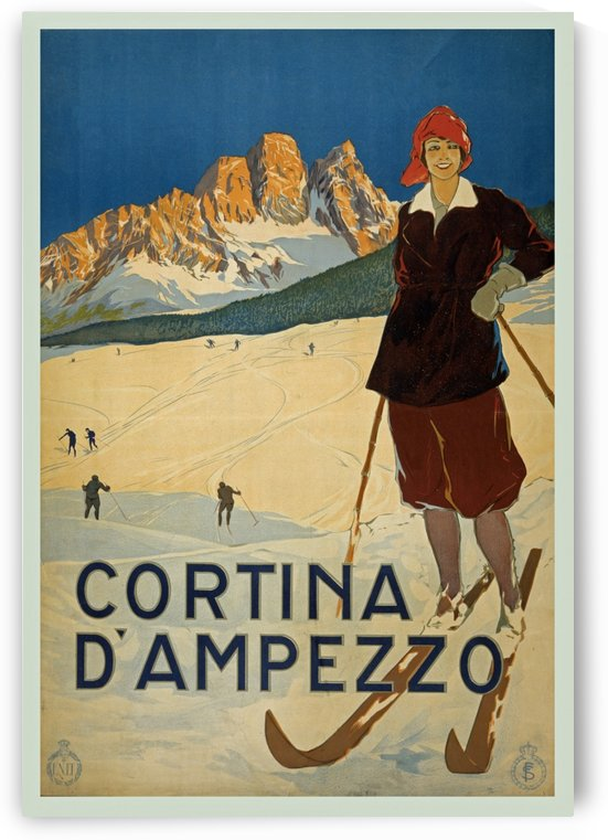 Vintage Cortina D Ampezzo Travel by VINTAGE POSTER