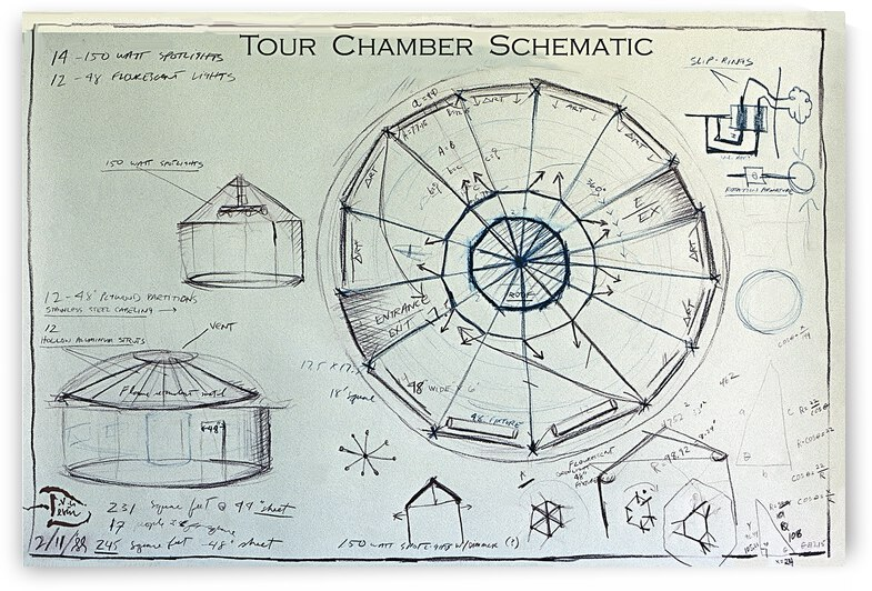Devin Tour Chamber Original Drawing by Lowell Phoenix Devin