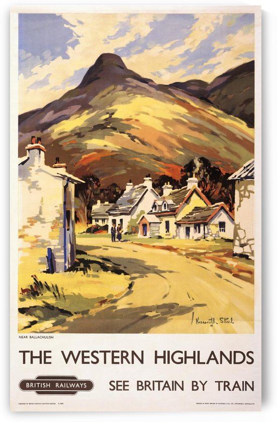 Western Highlands Vintage Railway Travel Poster by VINTAGE POSTER