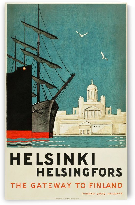 Helsinki, Finland Travel Poster by VINTAGE POSTER