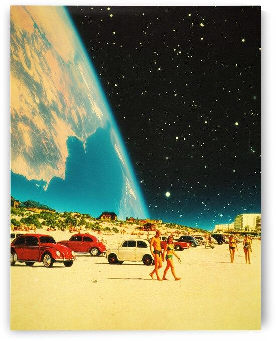 Galaxy Beach - Surreal Retro Futuristic Collage Wall Art. by Taudalpoi