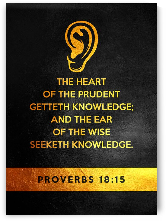 Proverbs 18:15 Bible Verse Wall Art by ABConcepts