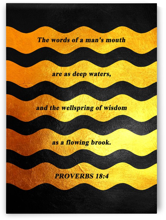 Proverbs 18:4 Bible Verse Wall Art by ABConcepts