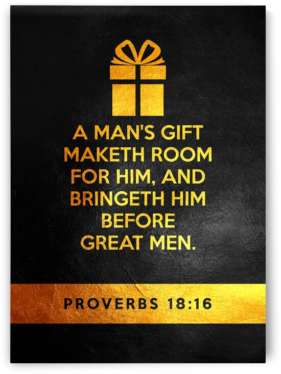Proverbs 18:16 Bible Verse Wall Art by ABConcepts