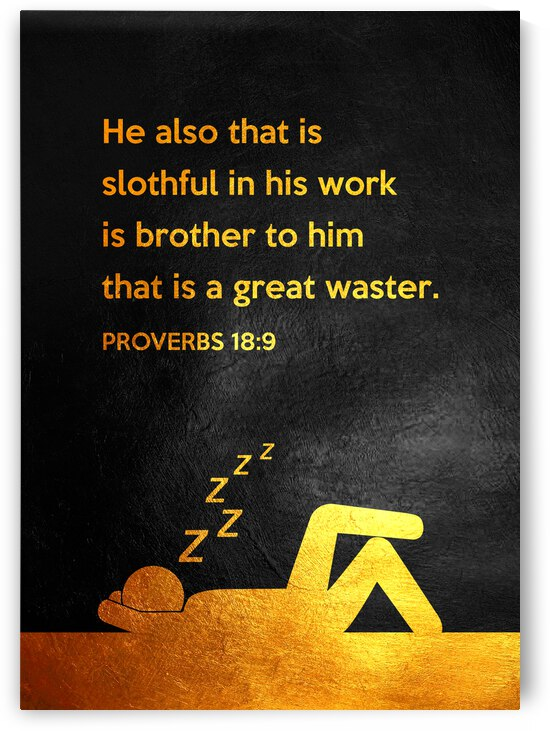 Proverbs 18:9 Bible Verse Wall Art by ABConcepts