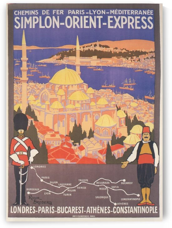 Simplon Orient Express travel poster by VINTAGE POSTER