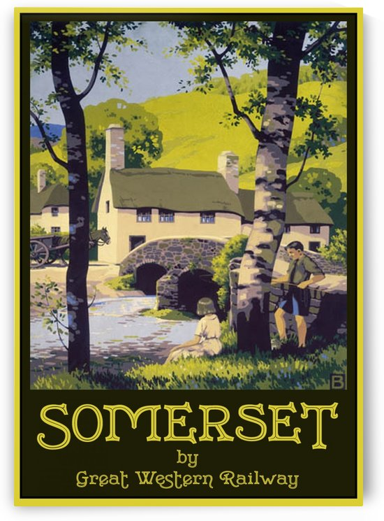 Great Western Railway Somerset travel poster by VINTAGE POSTER