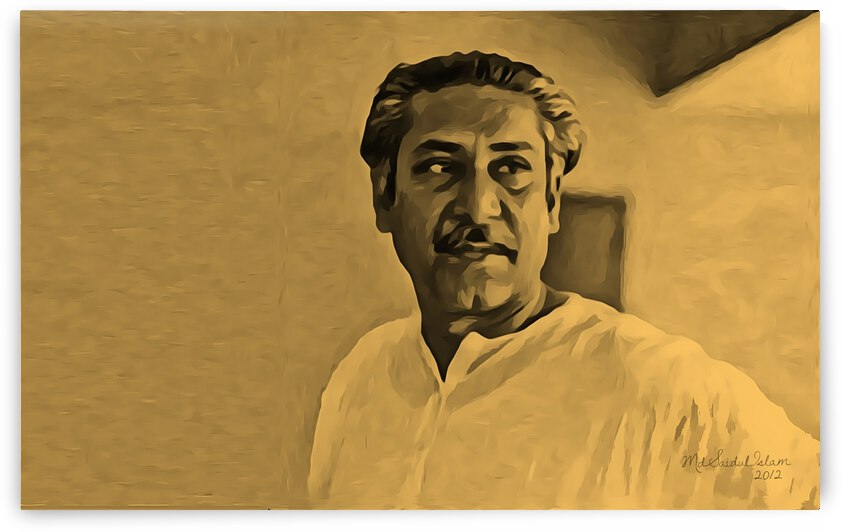 Portrait Of Bangabandhu Sheikh Mujibur Rahman by Md Saidul Islam