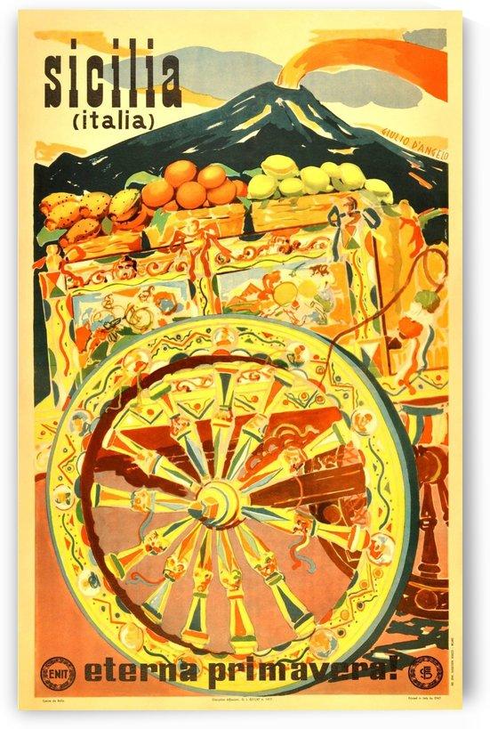Sicilia Italia Original Vintage Travel Advertising Poster by VINTAGE POSTER