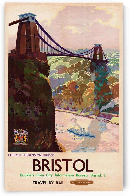 British Rail - Bristol, Clifton Suspension Bridge by VINTAGE POSTER