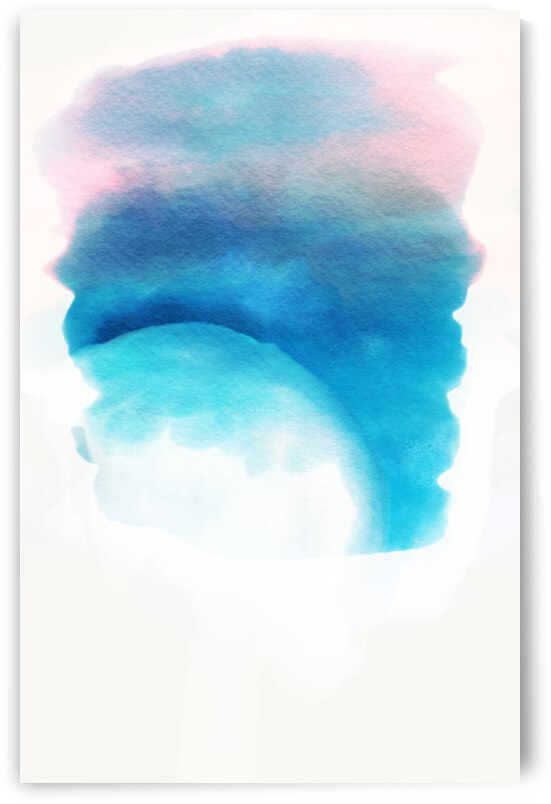Watercolor Night Sky Horizons and Moon by Artwork By Alma