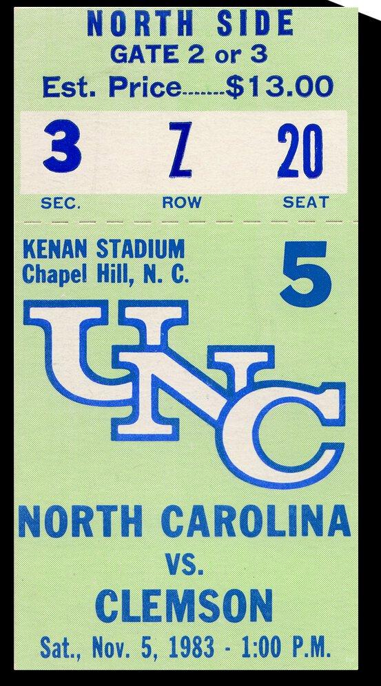 1983 Clemson vs. North Carolina by Row One Brand