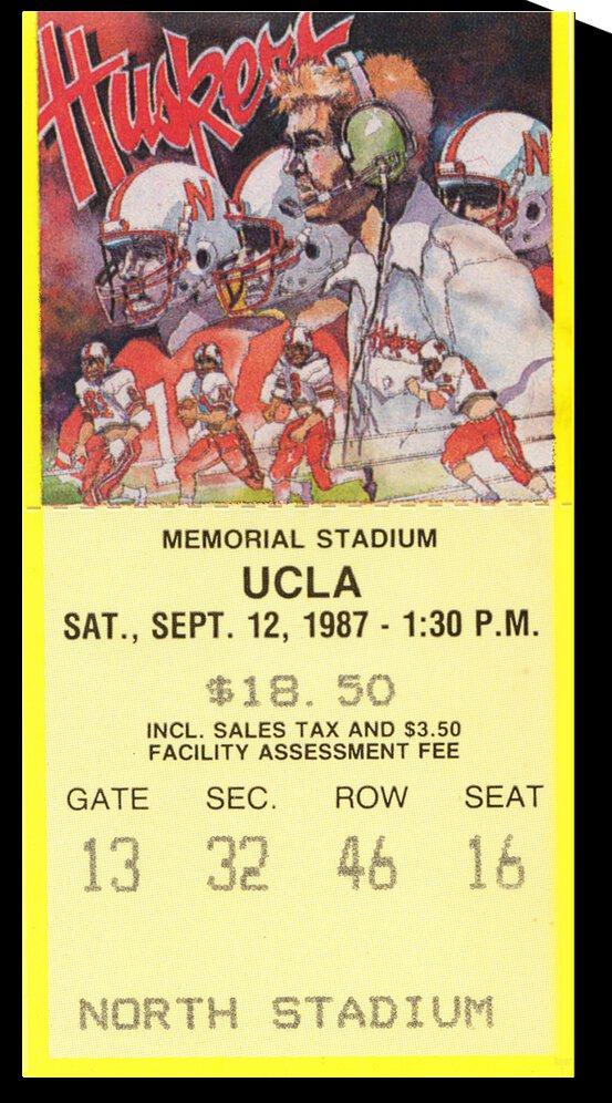 1987 UCLA Bruins vs. Nebraska Cornhuskers by Row One Brand