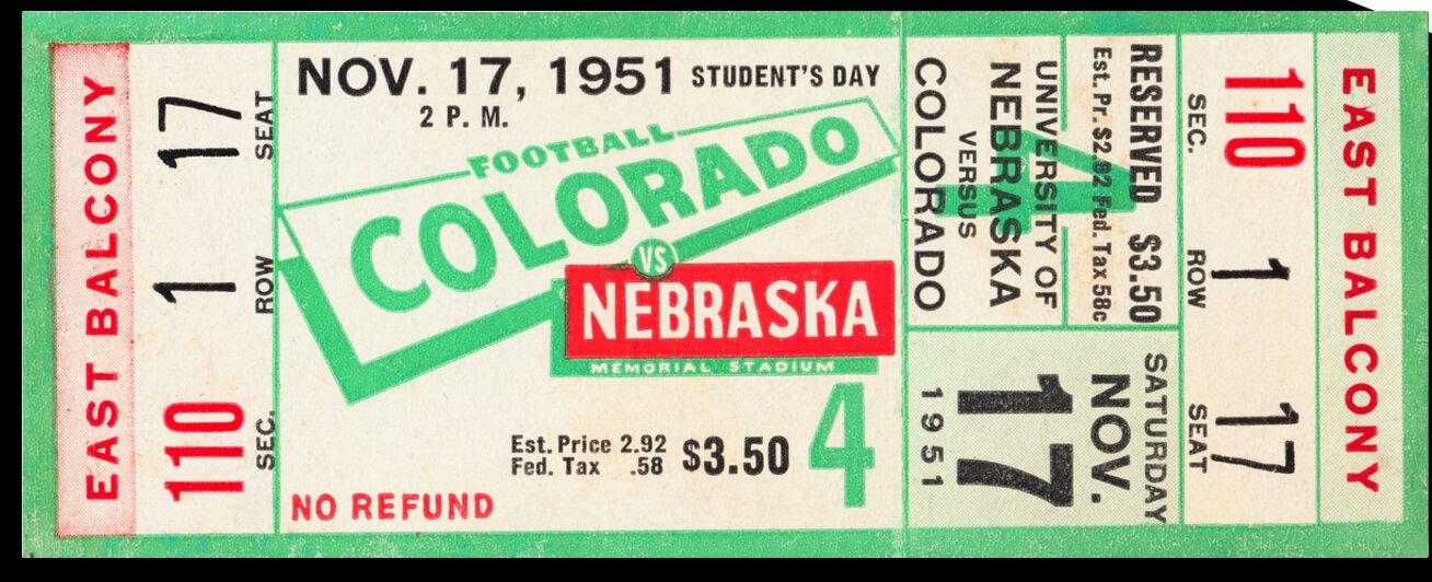 1951 Nebraska vs. Colorado by Row One Brand
