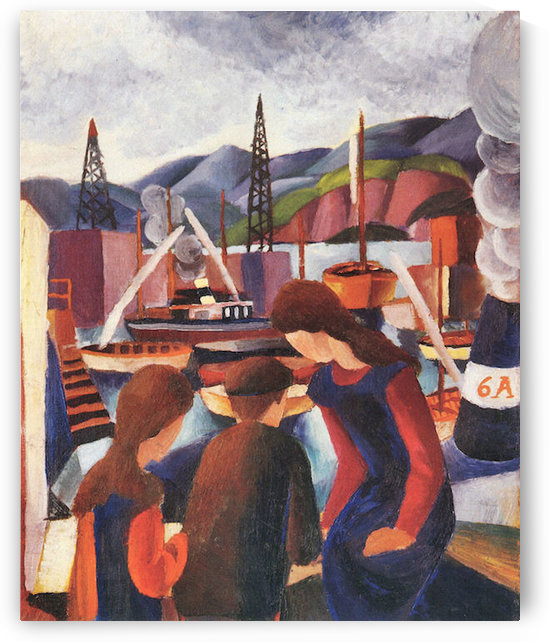 Children at the port (I) by August Macke by August Macke