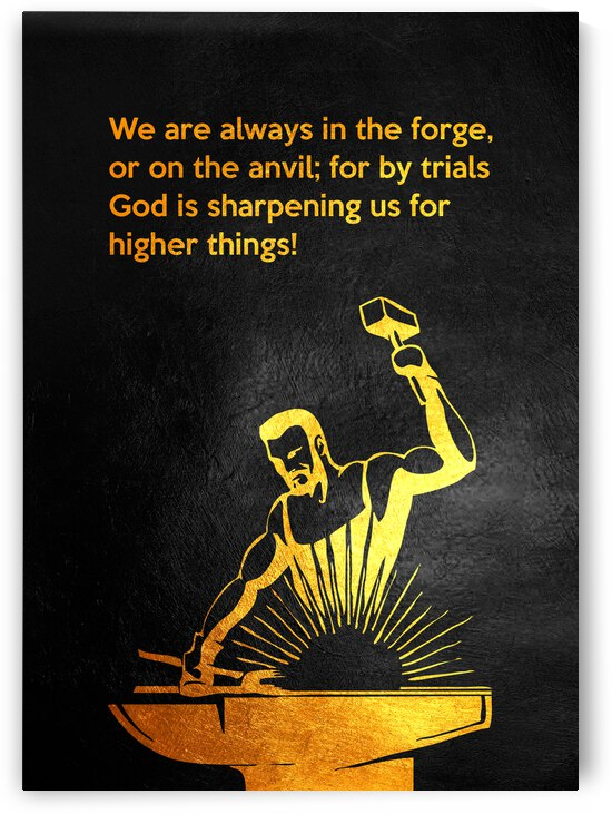 Beecher Anvil Forge Motivational Wall Art by ABConcepts