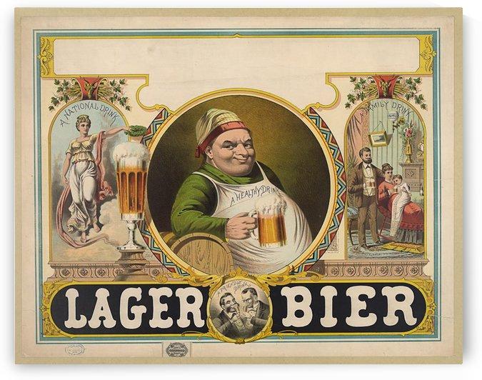 Lager Bier Vintage Poster by VINTAGE POSTER