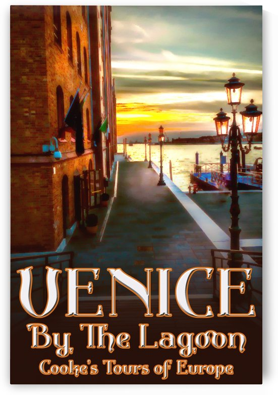 Venice by the lagoon travel poster by VINTAGE POSTER