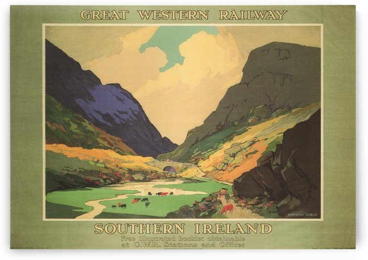 Southern Ireland Great Western Railway 1931 Vintage Travel Poster by VINTAGE POSTER