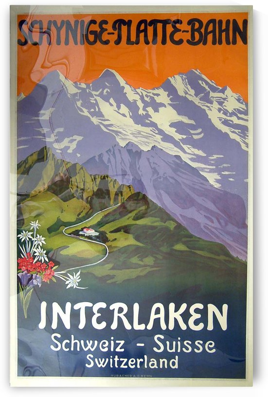 Swiss Railways travel poster by VINTAGE POSTER