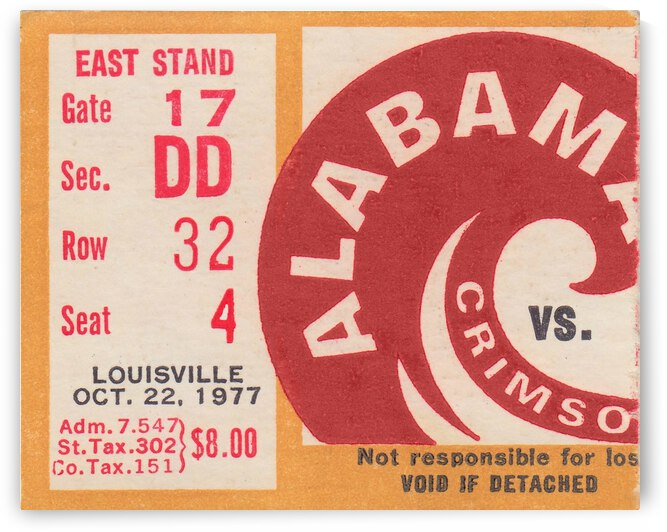 1977 Louisville Cardinals vs. Alabama Crimson Tide by Row One Brand